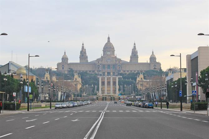 Climb the stemps of the Museum of National Art of Catalunya (MNAC) to get a Barcelona panorama