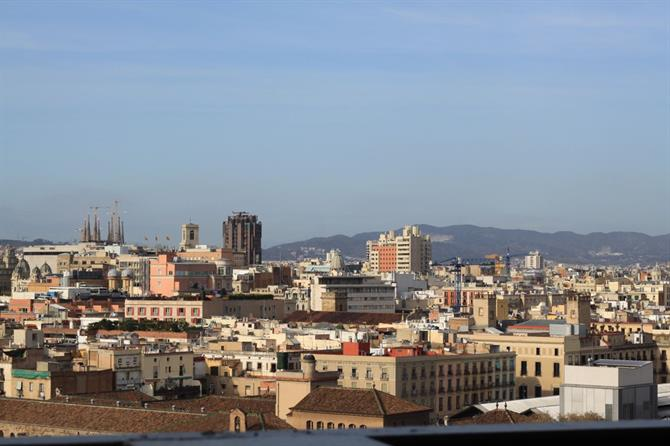 Barceló Raval Hotel view. See Barcelona from above!