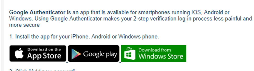 Add Google Authenticator to your 2-Step log-in